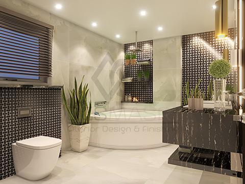 تصميم داخلي وديكورات حمامات منزلية مودرن وكلاسيك